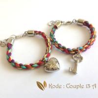 Jual JUAL Gelang Couple Heart and Key (Couple 13A) Murah