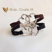 Jual JUAL Gelang Couple Double Heart [Couple 23] Murah