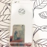 Rubber Mirror Cermin Soft Case Silver casing iphone 6/6+