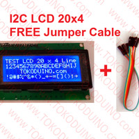 LCD 20x4 2004 I2C SERIAL CONNECTION FREE JUMPER CABLE, FOR ARDUINO,DLL