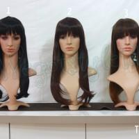 Wig C 60 Cm+- / Lurus / Casual / Cosplay / Pesta / Natal / Straight