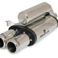KNALPOT REMUS SILENT DUAL TWIN PLAIN (TK S-5050-RDTP)
