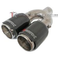 Akrapovic Twin Tailpipe Carbon Kevlar (MC-ACK 01)