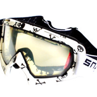 Snail Kaca Mata Goggle Anti Fog - Anti Embun MX19 Motif Tengkorak - Pu