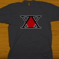 Kaos HxH Logo Japan Anime Hunter x Hunter Symbol 2 t-shirt,DTG Print