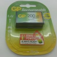 Baterai isi ulang (rechargeable battery) GP NiMH 200mAh 9v
