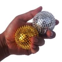 Bola Duri Magnet Besar Pijat Tangan Alat Terapi Kesehatan Silver gold