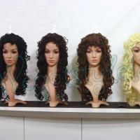 Wig L +- 60cm / Keriting Krisdayanti / Cosplay / Pesta / Warna / Curly