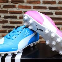 harga sepatu bola/sepatu olaharaga Puma Evopower Biru Muda Pink Tokopedia.com