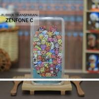 Casing HP Custom Rubber Transparan Asus Zenfone C Chibi Monsters