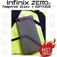 [PAKET] Softcase / Soft Case Infinix Zero 2 + Tempered Glass X 509