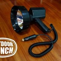 Handheld Spotlight Berburu bohlam HID 35 watt, jarak tempuh 1,2km