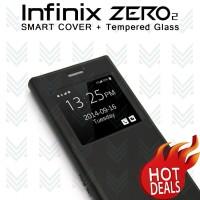 [PAKET] Flip Case Smart Cover Infinix Zero 2 X509 + Tempered Glass