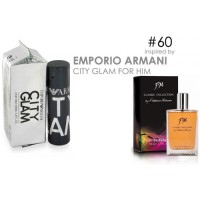 Parfum FM 60 Emporio Armani City Glam for Him ~ Original import Eropa