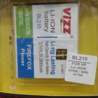 Baterai Vizz Bl210 Double Power 2800mah For Lenovo S820e A750e S650