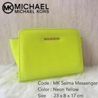 Tas Wanita Michael Kors Selma Mini Messenger Neon Yellow