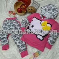 harga Baju Setelan Anak Hello Kitty Ping Motif Batik, Atasan Hoodie + Celana Tokopedia.com
