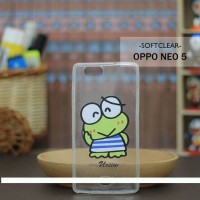 Casing HP Custom Softclear Oppo Neo 5 Kerokeropi