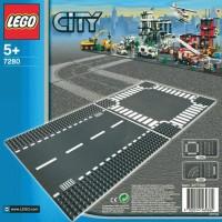 Jual LEGO # 7280 CITY - SUPPLEMENTAL STRAIGHT & CROSSROAD PLATES - JALAN Murah
