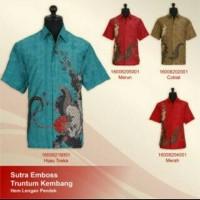 hem batik/kemeja batik/batik sutra/batik premium/baju sutra/jogja