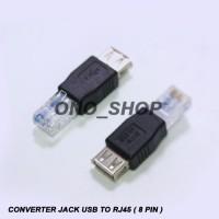 Converter Jack USB To RJ45 ( 8 Pin )