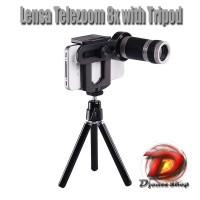 harga Lensa Telezoom 8x With Tripod  |  Mobile Phone Telescope Universal Tokopedia.com