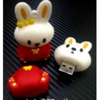 1080 USB FLASHDISK UNIK BONEKA KARAKTER LUCU KELINCI - BUS0223 - 32GB