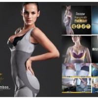Jual Natural Bamboo Slimming Suit Baju Pelangsing Tubuh Murah