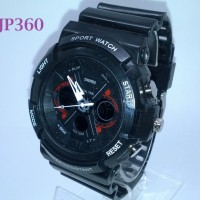 Jam Tangan SKMEI 0966 Dual Time Cargo Sporty - Hitam - JP360