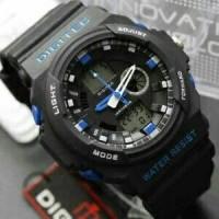 Digitec Original Dualtime Dg-2041 Hitam list biru