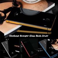 Hardcase Bumper Glass Back Cover for Xiaomi Redmi