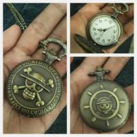 Pocket Watch Necklace Kalung Jam Saku Vintage One Piece