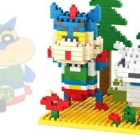 LOZ Lego Diamond Mini Block Ultraman Crayon Shin Chan Shiro