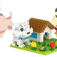 LOZ Lego Diamond Mini Block Crayon Shin Chan Shiro