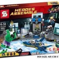 SY328 HULK'S HELICARRIER BREAKOUT HULK LEGO LIKE SY 328