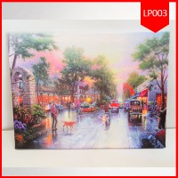 Kode : LP003 Agen supplier Lighting Painting 30X40 Tempo Dulu Murah