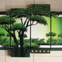 Lukisan Pemandangan 4 Kanvas