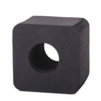 Black Hard Sponge Microphone Interview Square Cube Logo Flag Station