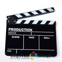 harga Black Acrylic Clapper Board Slate With Stick For Tv, Film Production Tokopedia.com