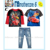 baju setelan anak MC mothercare MC6 set 3in1 cars