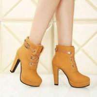 harga Sepatu Heels Boots Tali Gesper, Uk 36-40 Tokopedia.com