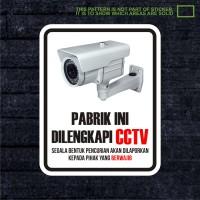 Harga wskpc001 sticker safety sign warning sign pabrik cctv | antitipu.com