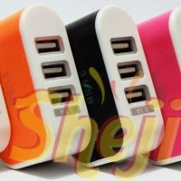 CHARGER ADAPTOR 3 USB PORT OUTPUT 3.1A