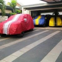 cover mobil toyota harrier fortuner pajero strada warna hijau/orannye