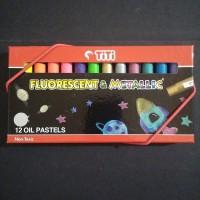 Cat minyak padat titi fluorescent & metallic 12 warna  PL-12FM
