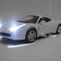 harga Diecast Miniatur Like Ferrari (white) Tokopedia.com