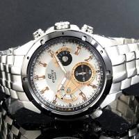 Casio Edifice Ef 535 Silver white dial