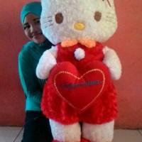 gratis bordir nama, Boneka Hello kitty Love 1 meter