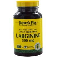 Nature's Plus L-Arginine 500 mg - 90 Veggie Caps