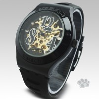 Swatch Skeleton Big Number Rubber Hitam
